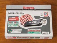 Hama Wireless LAN USB 2 WiFi stick, suitable for Samsung Smart TVs