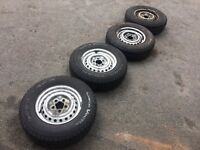 Vw t25 set of wheels and tyres