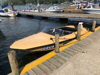 Fletcher Arrow 14ft Speedboat (1974) & 70HP Johnson Outboard