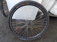 Alex rims Mountain king bike front wheel and tyre. 26 x 2.4 tyre