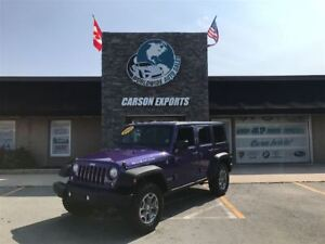 2017 Jeep WRANGLER UNLIMITED SHARP RUBICON! FINANCING AVAILABLE!