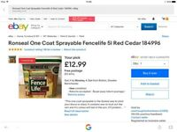 Ronseal one coat sprayable fence stain
