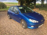 Peugeot 206 - great condition, low mileage, full service history and Bluetooth stereo!