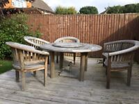 Bramblecrest solid wood table and chairs