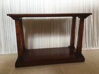 REH Kennedy Cherry Pillared Console Table (with lower lovel Pot Shelf). Finest Hamdmade Furniture.