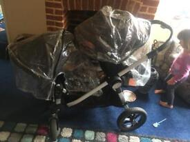 Babyjogger city select twin double buggy