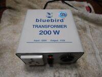 POWER TRANSFORMER 240V TO 110V 200 WATT USA