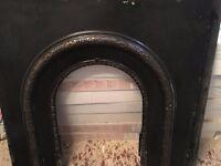 antique cast iron fire surround no damage etc