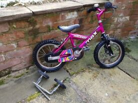 Raleigh Max childs first bike, with detachable stabilisers