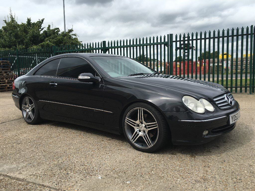 mercedes clk 320 v6 auto elegance 12 months mot black. Black Bedroom Furniture Sets. Home Design Ideas