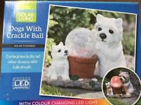 ( New ) Brand New Dog with Crackle Ball Solar Light - 2 designs