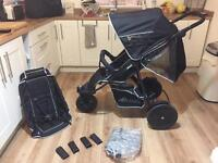 Hauck free rider double single Pushchair 2 months old