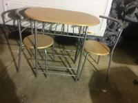 Kitchen / dinning compact chairs and table