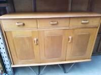 Vintage Retro Ercol Sideboard Dresser Cabinet Kitchen Living Room TV