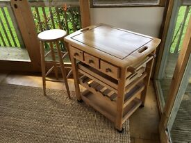 Butchers Block. Would suit a small kitchen.