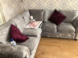 Cush velvet sofa