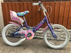 Kids Claud Butler CBR Mermaid Bike with Doll Carrier
