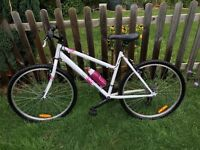 Ladies Mountain Bike - White - Medium - Rockrider - Excellent condition - Used twice!