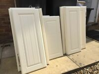 22 x cottage style kitchen cupboard doors and drawer fronts pale yellow assorted sizes
