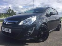 2012 VAUXHALL CORSA 1.2i 16v LIMITED EDITION TOP SPEC+BLACK ALLOYS+BODY KIT