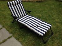 **FINAL REDUCTION – 24hr OFFER ONLY** - 2 New comfortable Cushion Sun lounger chair RRP£75