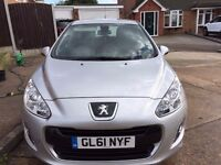 Peugeot 308 Active 1.6 HDI 2012 £20 yearly Tax
