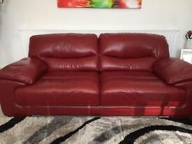 Three seater and two seater leather suite