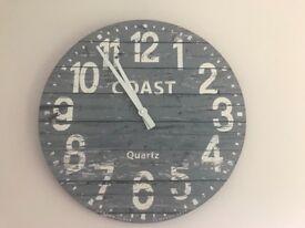 Blue London wall clock
