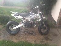 140 lifan pit bike comes with dirt and supermoto wheels