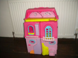 Dolls house complete with furniture and people