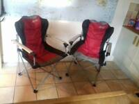 2 x Folding Camping Chairs