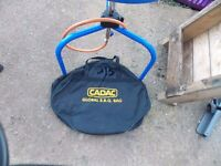 camping gear cadac BBQ , stove, water hog, kitchen stand £100 the lot