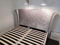 King size velvet bed