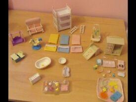 Sylvanian families baby nursery furniture bundle