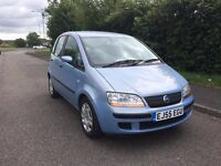 FIAT IDEA BABY DIESEL 1.3 VERY ECONOMICAL LONG M.O.T DRIVES WELL BARGAIN AT ONLY £699