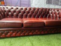 3 SEATER SOFA CHESTERFIELD OXBLOOD