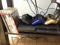 PS3 - 3 controllers - 5 games