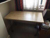 Ikea wooden office desk - computer desk