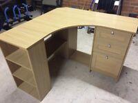 Light beech wood desk excellent condition