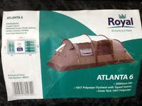 Royal Atlanta 6 berth tent, tent extension & footprint