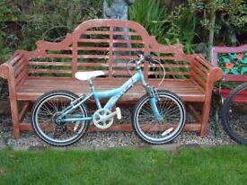"Claude Butler Sabre, Girls mountain bike, 20"" wheels, 6 gears, front suspension"