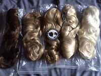 Job lot of hair pieces/ half wigs
