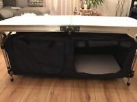 Folding Camping Cupboard with aluminium Frame