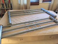 Silver Double bed and Matress