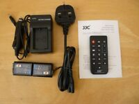Spare (Not Sony) Batteries and Charger For Sony A6000 Camera + Sony A6000 Remote Control