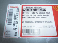 Reading Festival Weekend Ticket x 1 and Coach Return Ticket