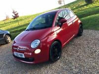 2012 Fiat 500 TwinAir Plus Red Full Leather Lovely CAR