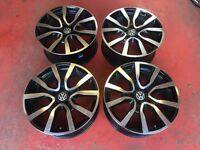 "18"" VW GOLF MK7 ADIDAS ALLOY WHEELS MK6 5x112 CADDY PASSAT REPLICA"