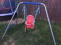 CHILDRENS SWING VGC BIT FADED VERY STURDY