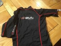 Black GUL 50+ Protection XOLA rash vest.